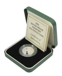 1992 Silver Proof Piedfort 10 for sale